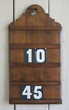 Antique Hymn Board -  Wall Mounted Hymn Boards - Display Family Pictures