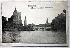 FELDPOSTKARTE - Brugge - Minnewater met Poermolen (1916)