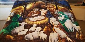 Nativity Blanket Shining Light Northwest Company Soft Plush Bedding Throw 50x60