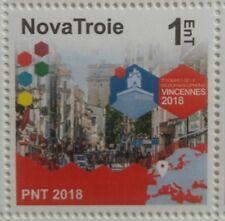NovaTroie 1EnT 2e Sommet MicroFrancophonie Vincennes neuf MNH 2018 micronation