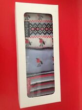 Barbour Womens Christmas Robin 3 Pack Socks - NEW BOXED MEDIUM Size 3 - 5 UK