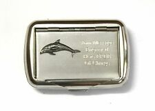 Single Dolphin Tobacco Hand Rolling Cigarette Tin Free Engraving Sealife Gift