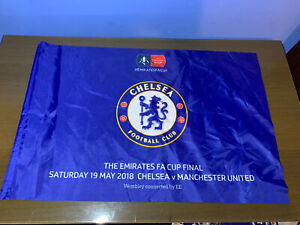 """Chelsea Flag - 2018 FA Cup Final - Exclusive to Match - 24"""" x 16'"""