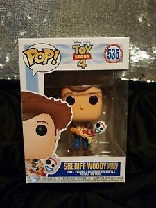 Funko Pop Disney Toy Story 4 Sheriff Woody Holding Forky #535 Vinyl Figure