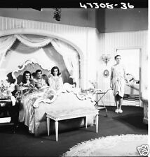 THE SAINT ROGER MOORE ON SET WITH GIRLS IN BED NBC TV PHOTO NEGATIVE