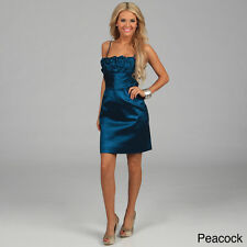 Calvin Klein Women's Ruffled Sleeveless Dress- PEACOCK Green - 6