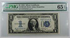 1934 One Dollar $1 Silver Certificate Fr#1606 (Ba Block) Pmg Gu-65 Gem Epq Ww