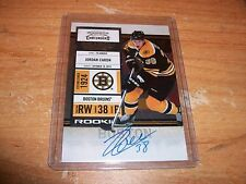 2010-11 Hockey Playoff Contenders Jordan Caron Rookie Auto Card Boston Bruins