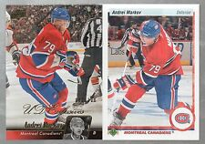 2010-11 ANDREI MARKOV 2 CARD LOT UD EXCLUVES #83/100,UD 20TH ANNIVERSARY  PARALL