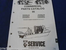 1991, COMMERCIAL 65 Parts Catalog, Evinrude Johnson OMC
