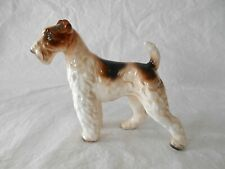 """Vintage Lefton Wire Fox or Airedale Terrier 5 1/4"""" Glossy Dog Figurine"""