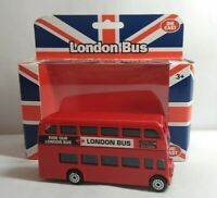 FUNTASTIC DIECAST LONDON ROUTEMASTER BUS - 218070 - BOXED - LENGTH APPROX 8.5CM