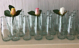 Wedding Day Small Flower Vase Clear Glass 20 In Set. 12.5cm Tall Table Decor