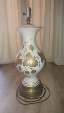 "Antique Stoneware Gold Leaf Leaves & Trim 31"" Tall 1940~50's"