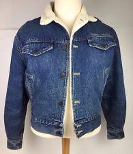 CALVIN KLEIN Men's Sherpa Denim Jean Trucker Jacket Size L