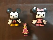 Micky Mouse and Minne Mouse Disney Store Vinyl with Lego Minnie Mouse