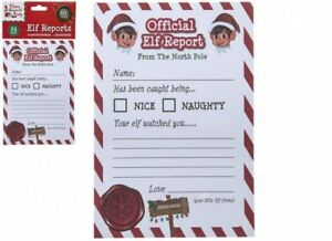 Official Elf Report - Christmas Naughty Or Nice List - A5 Card Pack Of 25