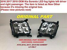 2016 2017 2018 OEM kia sorento led fog lights left and right