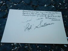 #MISC-3383 - 3x5 index card - signed auto - HOCKEY - RED SULLIVAN