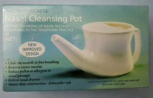 Ancient Secrets Nasal Cleansing Pot NETI For the cleansing of nasal passages