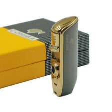 Promotion COHIBA  Metal 3 TORCH JET FLAME CIGAR Cigarette LIGHTER WITH PUNCH