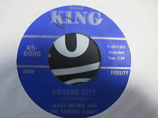 "James Brown & Famous Flames ""Kansas City/ Stone Fox"" 1967 King 45, 6086 EX"