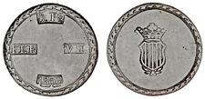 5 SILVER PESETAS / PLATA. FERDINAND VII - FERNANDO VII. TARRAGONA 1809. XF-/EBC-