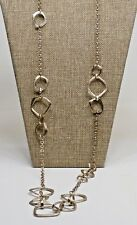 """Link & Chain Necklace A63) Chicos Gold-tone 40"""""""
