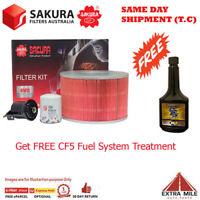 Sakura 4WD Filter Kit For TOYOTA LANDCRUISER UZJ100R 2UZ-FE 4.7L 06/1998-10/2007