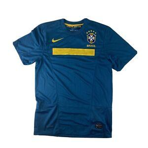 Brazil Away Football Shirt 2011-12 Small Blue/Green
