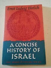 020 Ernst Ludwig Ehrlich A Concise History of Israel Paperback book 1965 1st Har