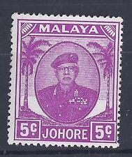 MALAYSIA, JOHORE  KGV1, 1949  ISSUE, 5c  SG 136A, MNH , CAT £3