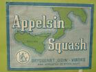 OLD SOFT DRINK CORDIAL LABEL, 1950s ODIN BRYGGERIET VIBORG DENMARK APPELSIN 2