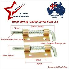 Small Steel Spring Slide Bolts/Latches x 2 (Selling as Seconds)   door box latch