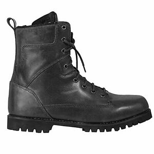 Waterproof Motorcycle Boots > Richa Brookland Leather Urban Style Lace Up- Black