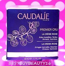 CAUDALIE PREMIER CRU LA CREME CREAM RICHE ANTI-AGING 1.7 OZ  NEW IN BOX