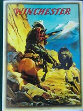 """Winchester Firearms Advertising Poster , """"Horseman and Bear"""" by H.C. Edwards"""