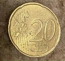 Euro coin. 20 cents. 2000