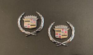 Cadillac Sedan Deville Roof Emblems Fleetwood Brougham Quarter Panel 1978 - 2000