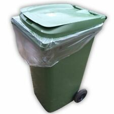 240L Strong Clear Wheelie Bin Liners Bags Refuse Sacks Strong Bin Liner XXL Size