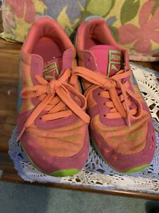 Puma Sport life style Size 4 1/2 EUR 36 Pink And Aqua BlueJoinior/Girl's Shoes