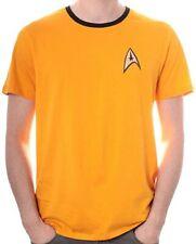T-Shirt Maglia Star Trek Uniforme Uomo Gialla Prodotto Ufficiale