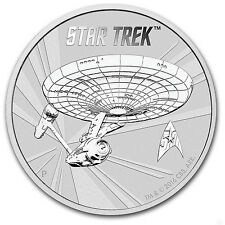 2016 Tuvalu 1 oz Silver Star Trek: Original U.S.S. Enterprise BU