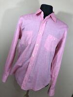Hugo Boss L Large Slim Fit Shirt Button Down Front Cotton Long Sleeve Pocket P1