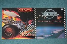 "Fastway All Fired Up + bonus 12"" Single Both NM Vinyl 1984 1985"