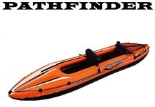 2 Person Man Inflatable Kayak Pathfinder Complete With Oars And Foot Pump Jilong