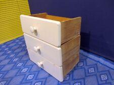3x Schubladen Schublade Holzkiste Schubkasten shabby chic Vintage