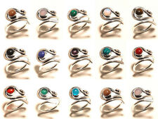 100PCS Wholesale Lot Opal Mix Gemstone 925 Silver Plated Rings Jewelry