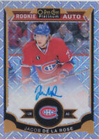 15-16 OPC Platinum Jacob De La Rose /125 Auto Rookie Traxx Canadiens 2015