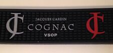 "BAR DRIP MAT Blk Rubber Jacques Cardin Jasmin Cognac VSOP 24"" Product Mat"